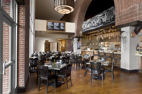 Sheraton Raleigh Hotel Jimmy Vs Osteria Bar Dining Room And Open Kitchen