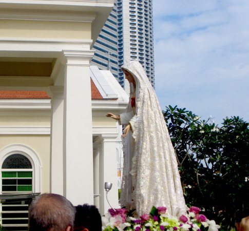 Cathedral of the good shepherd singapore wedding dress