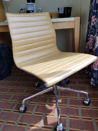 The Avalon Hotel and Conference Center: Awesome legit retro desk chair, perfect condition. I hope it remains after conversion to DoubleT