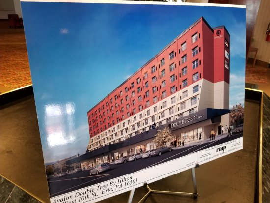 The Avalon Hotel and Conference Center: What the outside will look like after being converted to a DoubleTree.