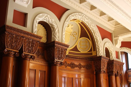 Landmark Center: Detail of one of the rooms open to the public. Used to be judges' chambers.