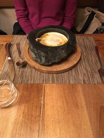 Restaurant The Piz: Kürbissuppe