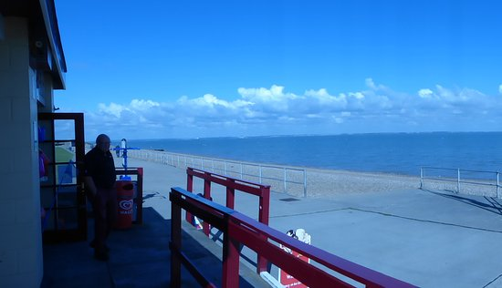 Minster Beach: View from sweet hut