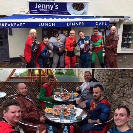 Brackley, UK: Home of the BIG BREAKFAST CHALLENGE! Breakfast fit for Super Heroes!