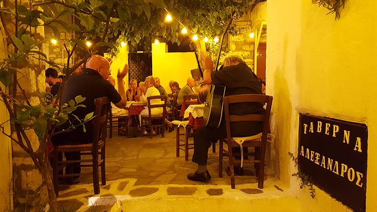 Taverna Alexandros: Cena allietata da musica tradizionale