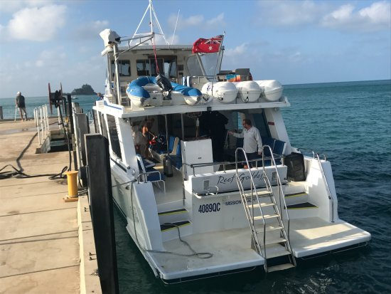 Mission Beach, Australia: The boat we travelled on to the reef.