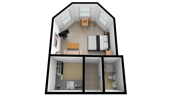 Floor plan of Apartment 7 - first floor studio apartment ...