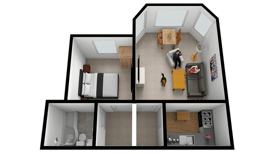 Muntham Holiday Apartments And Town House Floor Plan Of Apartment 2 Ground One