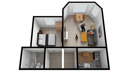 first floor studio apartment