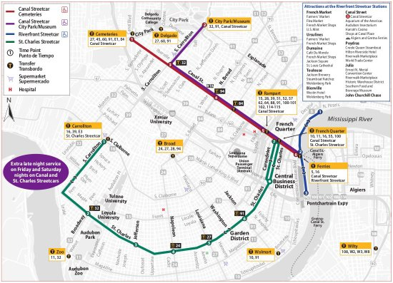 Trolley Map - Picture Of RTA - Streetcars New Orleans - TripAdvisor