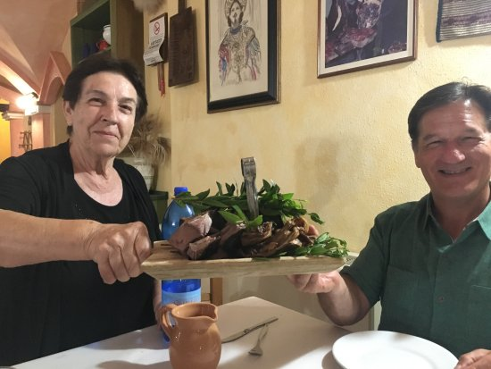 Talana, Италия: Restaurant owner