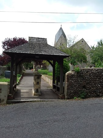 Entrance to Sompting Church.