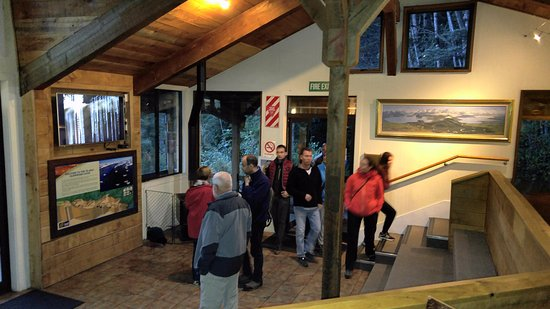 Te Anau Glowworm Caves: Cavern House for the film viewing session