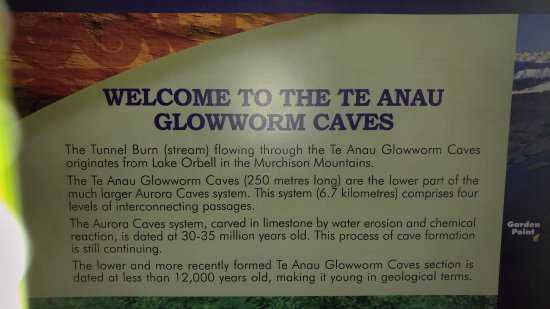 Te Anau Glowworm Caves: Official Welcome Sign