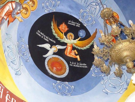 Kalloni, Greece: Plafond in een van de kapellen