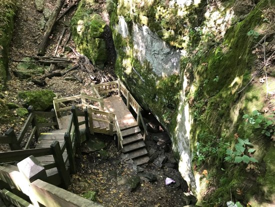 "Rock Bridge Memorial State Park : Great walks and Devil's Icebox is a ""must see experience"" good waterproof shoes and a flashlight"
