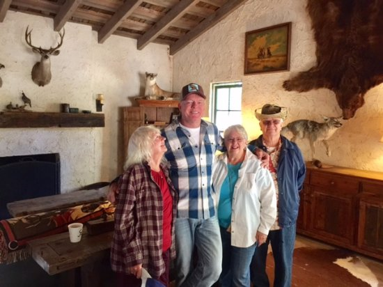 Alisal Guest Ranch & Resort: Inside historic adobe where pancake breakfast and buffet is offered