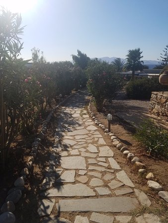 Faros Villa Small Hotel : The walk from our room to the pool/bar/restaurant