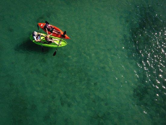 Utah: Kayaking on Bear Lake, known as the Caribbean of the Rockies.