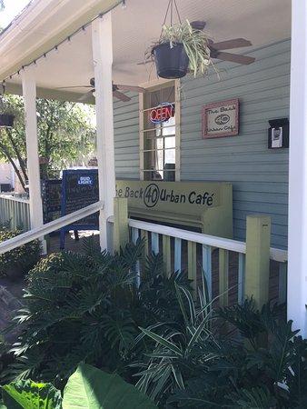 The Back  Urban Cafe St Augustine Fl