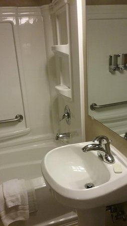 Lakeshore Inn: small but well appointed bathroom