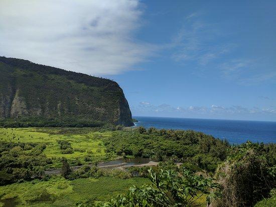Waipio Na'alapa Trail: Waipi'o Valley, looking back towards the ocean