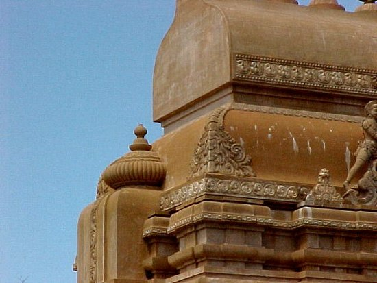 Lemont, IL: Orange Temple Side Detail