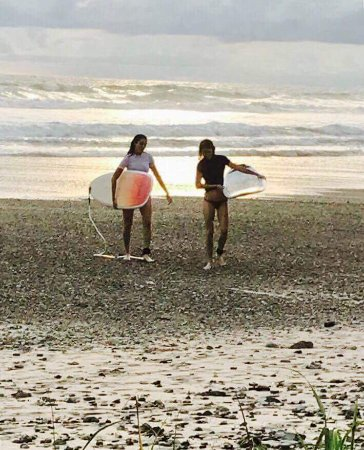 Cabuya, Costa Rica: by the end of the week we were out past the break and picking our own waves