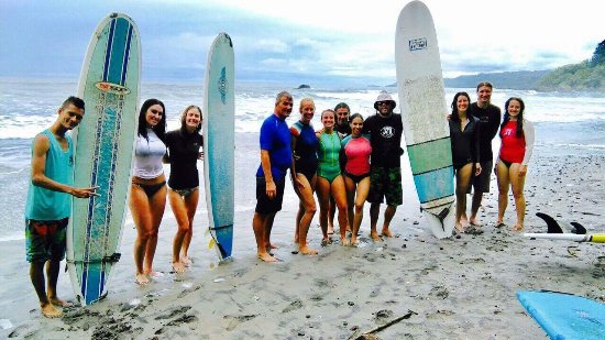 Cabuya, Costa Rica: our whole crew and the best instructors!