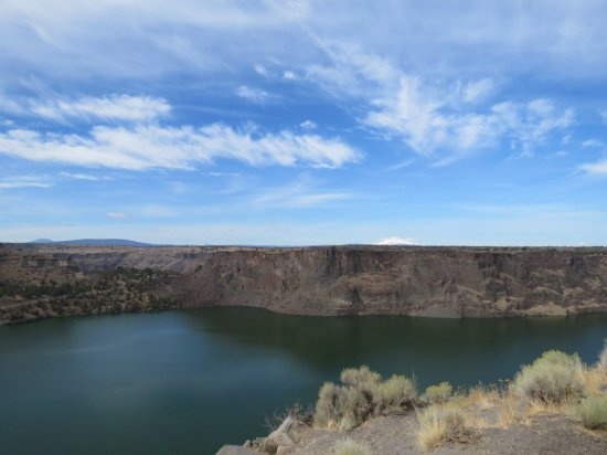 Culver, OR: The Palisades and Lake Billy Chinook from Cove Palisades State Park, by Liz Wharton