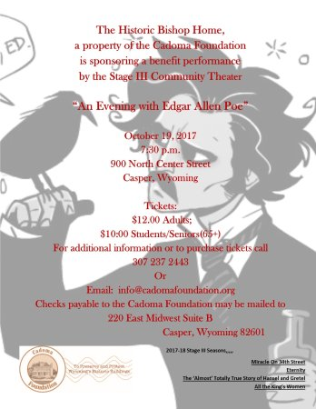 "The Bishop House: Benefit Performance of ""An Evening with Edgar Allen Poe"" to support the Historic Bishop Home"