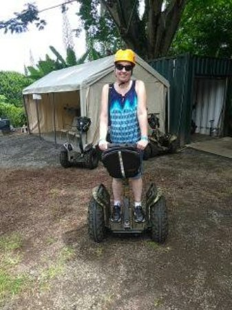 Hakalau, HI: learning the Segway did not take long, 5-10 minute tutorial for hubby and I and we were off.