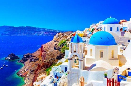Santorini: Akrotiri-locatie en ...