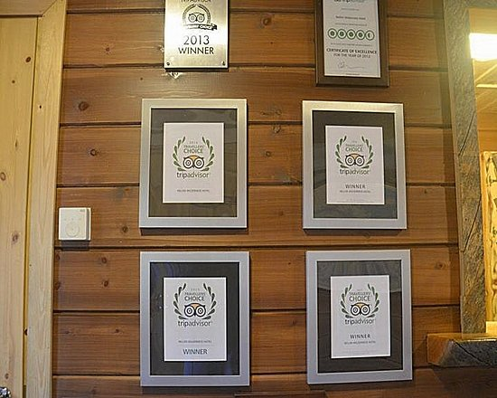 Nellim Wilderness Hotel: Trip Advisor certificates.