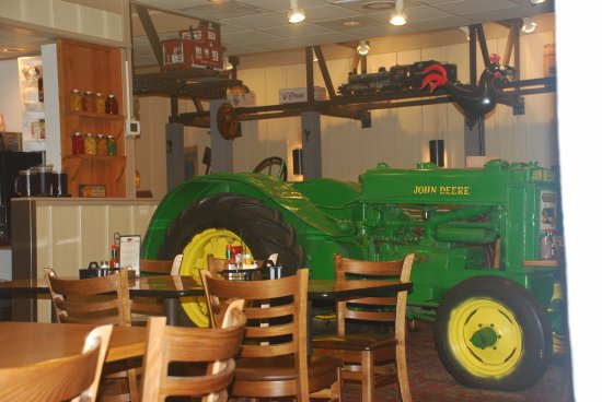 tractor in the dining room