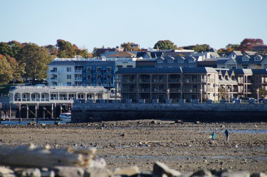 Looking Back at Bar Harbor from Bar Island at Low Tide - Picture of ...