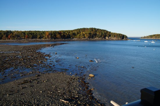 Land Bridge to Bar Island: Tide starting to come back in