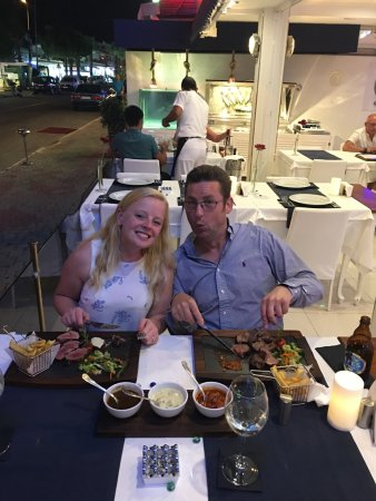 The Love Boat : us enjoying the chateaubriand