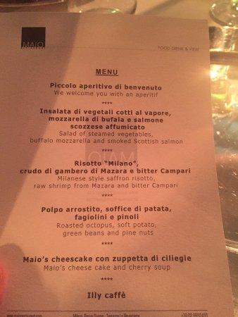 Il Nostro Menù Picture Of Maio Restaurant Milan Tripadvisor