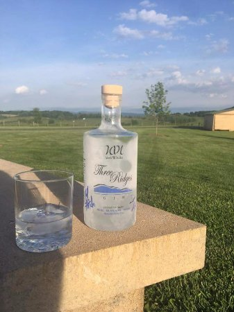 Faber, VA: Three Ridges Gin  distilled from apples.