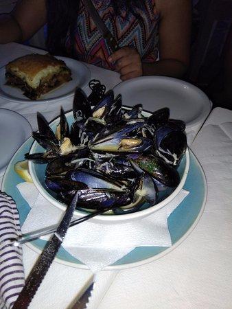 Agios Georgios, Greece: Mussels