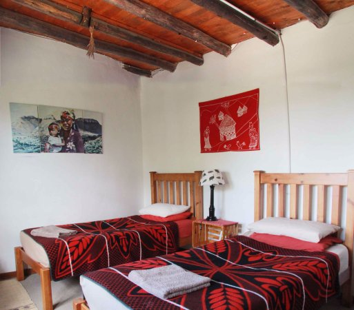 Morija, Lesotho: chambre a lits jumeaux dans maison principale/twin room in main house