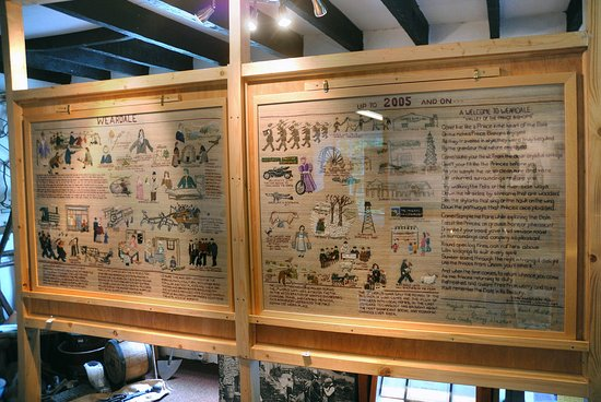 Our tapestry in five panels tells the history of Weardale in stitches.