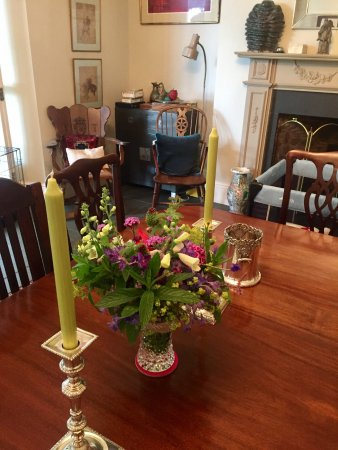 Stokenham, UK: a lovely bunch of flowers given by an appreciative guest