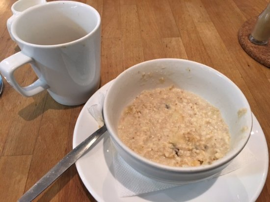 The Grapevine: This may not look delicious but it's great porridge with raisins and honey
