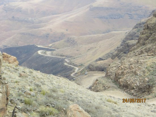 Sani Pass, Lesoto: view of the pass