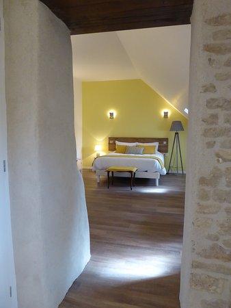 Saint-Loup-Geanges, ฝรั่งเศส: Chambre 'Chardonnay'