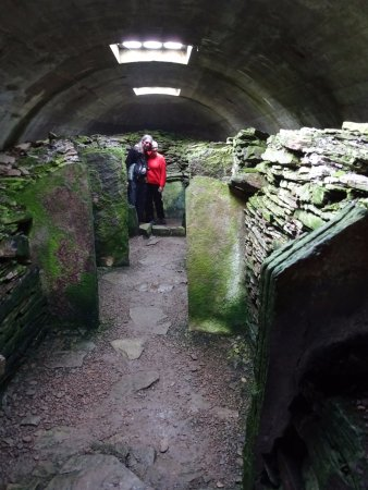 Rousay, UK: inside the tomb