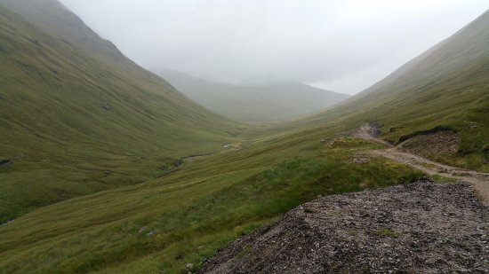 Glenmoriston, UK: Path north up the Allt a Chaorainn Mhoir (An Caorann Mor), shortly after leaving the Cluanie