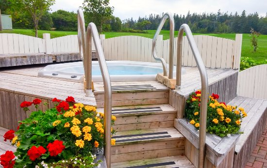 Lakeside, Canada: The outdoor jacuzzi